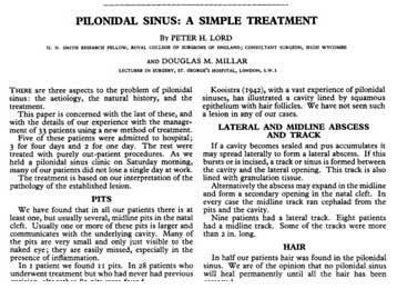 Einfache Behandlung des Pilonidalsinus nach Lord