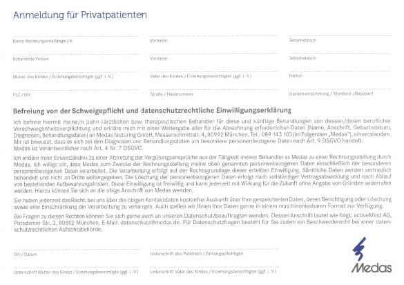 MEDAS Anmeldung für Privatpatienten Thumbnail